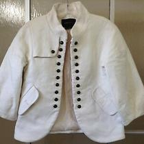 Vintage Bcbg Maxazria 3/4 Puff Sleeve White Lined Coat Military Like Button Xxs Photo