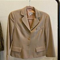 Vintage Bcbg Maxazria Petites Tan Beige Blazer Photo