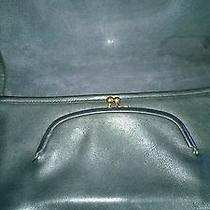Vintage Beautiful Black Coach Bonnie Cashin Clutch Kiss Lock Black Photo