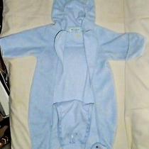 Vintage Bebe d'amour Baby Boys Girls Winter Snow Suit Blue Fleece Sz 6-9 Months Photo