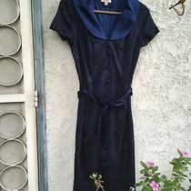 Vintage Bebe Yankee by Bebe Luxury Brand Satin Blue Dress Weddingwork Dress S Photo
