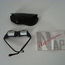 Vintage Bed Specs Bakelite Nap Glasses W/leather Case Prism for Reading & Tv Photo