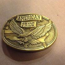 Vintage Belt Buckle  American Pride Solid Brass Photo