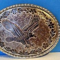 Vintage Belt Buckle Rare Antique W Made in Usa American Eagle Crest Bird Griffin Photo