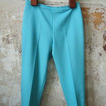 Vintage Bend Over Levi Strauss Aqua Blue Polyester Tapered Pants Women's 20 Usa Photo