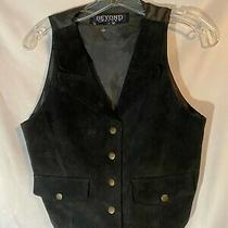 Vintage Beyond Black Suede Leather Vests/mmotorcyclecostume Photo