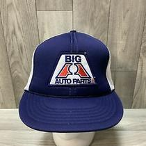 Vintage Big a Auto Parts Snapback Trucker Style Hat Mesh Patch Photo
