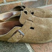 Vintage Birkenstock Brown Suede Mules Clogs 39 M6 L8 Made in Germany Photo