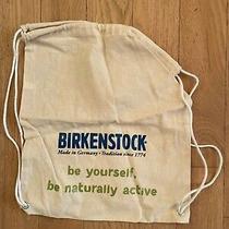 Vintage Birkenstock Canvas Drawstring Bag/backpack - 15' X 17