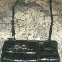 Vintage Black Brighton Messenger Cross Body Handbag Purse Wallet Photo