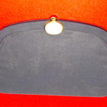 Vintage Black Clutch With  Attached Coin Purse. Mother of Pearl Design Photo