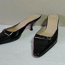 Vintage Black Coach Kitten Heels Pointed Toe Made in Italy 7.5 B Francesca  Photo