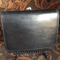 Vintage Black Coach Tri-Fold Wallet With Kiss Lock Photo