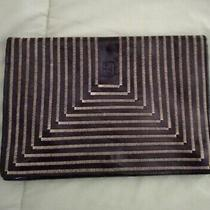 Vintage Black Fendi Striped Clutch Leatherbag  Photo