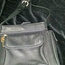 Vintage Black  Fossil Classic Crossbody Leather  Bag  Photo