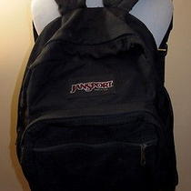 Vintage Black Jansport Backpack Leather Bottom Made in Usa Classic  Photo