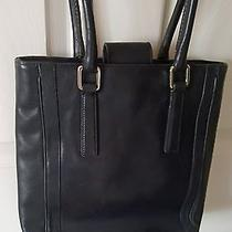 Vintage Black Leather Coach Purse Photo