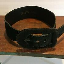 Vintage Black Suede Belt Express Photo