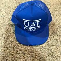 Vintage Blue and White Fiat Cars Mesh Trucker Hat Snapback Photo