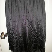 Vintage Blush Black Lace Lacy Half Slip Size Large  Photo