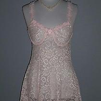 Vintage Blush Pink Lace Chemise Sexy Short and Peek a Boo by Innermost Retro S/m Photo