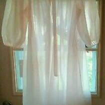 Vintage Blush Pink Sheer Double Layer Hollywood Vassarette Robe Size Medium  Photo