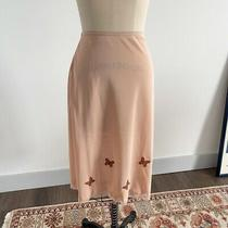 Vintage Blush Pink Slip Skirt Butterfly Embroidery Photo