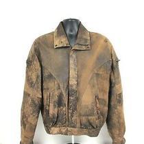 Vintage Bomber Jacket Bally Brand Lambskin Sz M Photo