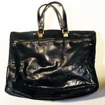 Vintage Bottega Veneta Black Patent Leather Purse   Photo