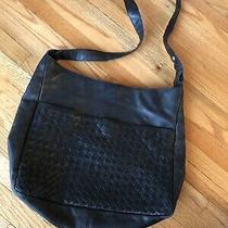 Vintage Bottega Veneta Black Woven Crossbody Bag Purse Photo