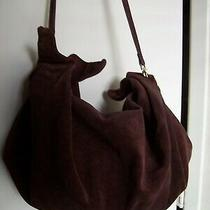 Vintage Bottega Veneta Hobo Shoulder Bag Italy Burgundy Suede With Butterflies Photo