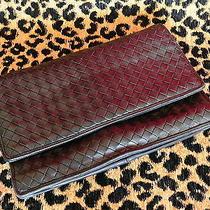 Vintage Bottega Veneta Italy Woven Black Leather Clutch/handbag Photo