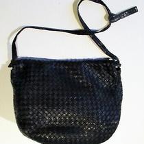Vintage Bottega Veneta Purse  Black Woven Leather Bag   Photo