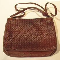 Vintage Bottega Veneta Purse  Brown Woven Leather Bag   Photo