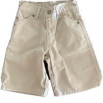 Vintage Boys Size 5 Levi Jean Shorts Khaki 90's Levi's
