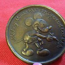 Vintage Brass Belt Buckle Mickey Mouse by Tiffany & Co. New York  Photo