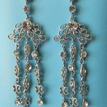 Vintage Bridal Chandelier Earrings Clear Swarovski Crystal E2078 Photo