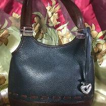 Vintage Brighton Authentic Shoulder Bag Purse Handbag Brown & Black Leather  Photo