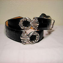 Vintage Brighton Black Leather Belt Photo
