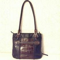 Vintagebrightoncontemporary Purse Semy-Hobo blk.leather & Silverplate Hardware Photo