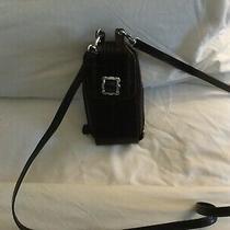 Vintage Brighton Crossbody Wallet Small Phone Case Purse Black Pebbled Brown Photo