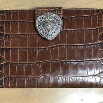 Vintage Brighton Faux Croc Leather Wallet Clutch Photo