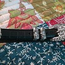 Vintage Brighton Leather Belt With Disney Buckle Photo