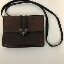 Vintage Brighton Messenger Bag Purse Brown Cross Body Leather Handbag Wallet  Photo