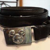 Vintage Brighton Mickey Buckle Black Belt - Never Worn - 32