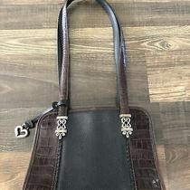 Vintage Brighton Shoulder Bag Purse Handbag Black & Brown Leather  Photo
