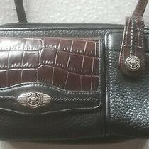 Vintage Brighton Small/mini Black/brown Leather Crossbody/wallet/purse/handbag Photo