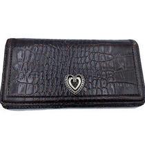 Vintage Brighton Wallet Silver Tone Heart Leather Photo