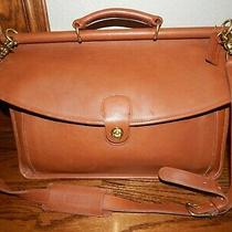 Vintage British Tan Coach Briefcase 5266  Barely Carried Photo
