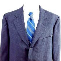 Vintage Brooks Brothers 44r 3 Button Glen Plaid Wool Blue Blazer Tagged 46r Photo